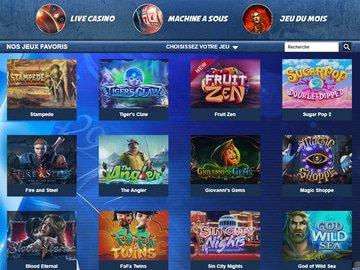 aperçu de jeux Astral Casino