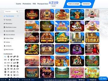 aperçu de jeux Azur Casino