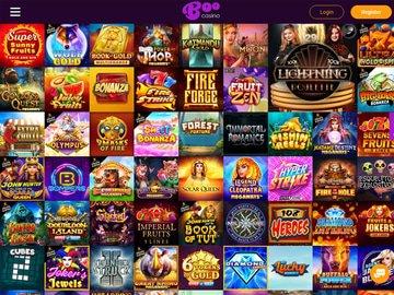 aperçu de jeux Boo Casino