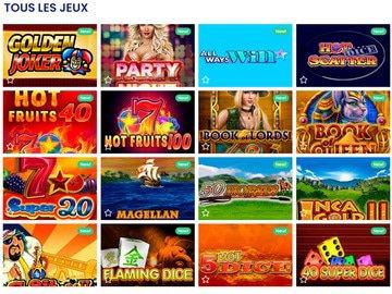 aperçu de jeux CasinoBTC