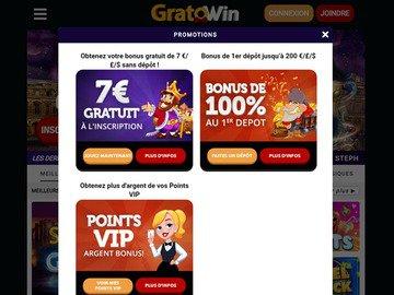 aperçu de jeux Casino Gratowin