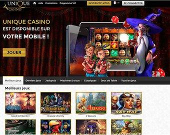 aperçu de jeux Casino Unique