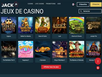 aperçu de jeux Jack21 Casino