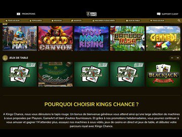 aperçu de jeux Kings Chance Casino