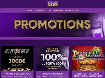 aperçu de jeux Majestic Slots Casino