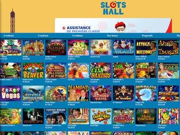 aperçu de jeux Slotshall Casino