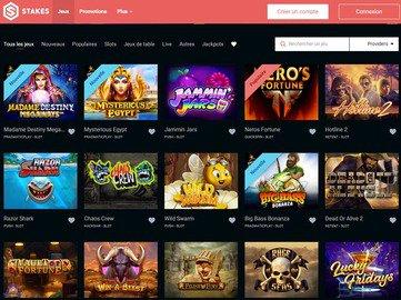 aperçu de jeux Stakes Casino