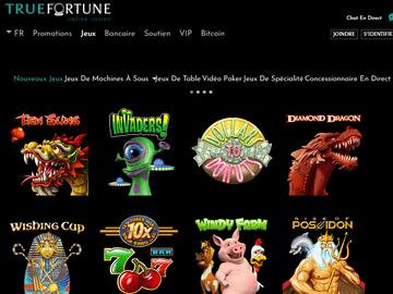 aperçu de jeux True Fortune Casino